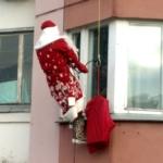 ГК Клининг Премиум. Поздравление с Новым годом. Дед Мороз в окно